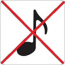 No tunes past this point!